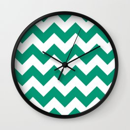 Emerald Chevron Wall Clock