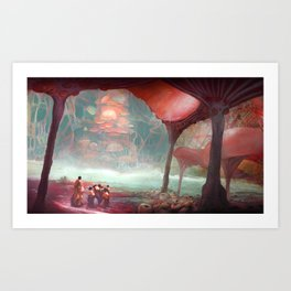 Academic journey Art Print