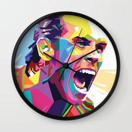 Gareth Bale in Colorful WPAP Wall Clock