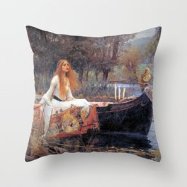 John William Waterhouse The Lady of Shalott Throw Pillow