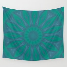 Aurora Kaleidescope With Flower Petal Design Wall Tapestry