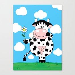 Cow Daisy Canvas Print