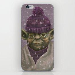 Christmas Yoda (fiolet) iPhone Skin