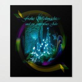 Frohe Weihnachten und ein gutes neues jahr Canvas Print