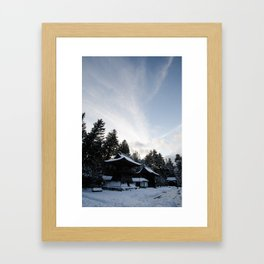 Snow in KoyaSan Framed Art Print