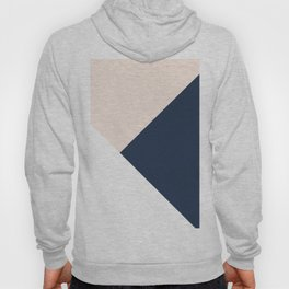 Blush meets Navy Blue & White Geometric #1 #minimal #decor #art #society6 Hoody