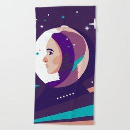 Space Girl Beach Towel