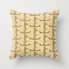 Aldus Manutius Printer Mark Throw Pillow