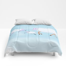 Sheep clouds Comforters