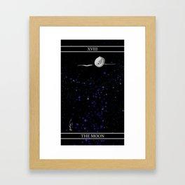A Tarot of Ink Major Arcana XVIII The Moon Framed Art Print