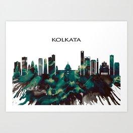 Kolkata Skyline Art Print