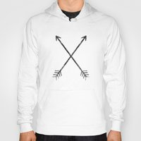 arrows Hoodies featuring Arrows by Zach Terrell