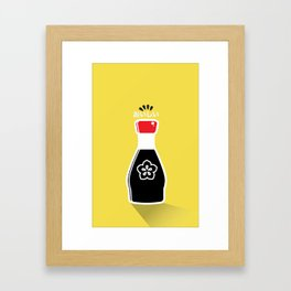 In My Fridge - Soy Sauce Framed Art Print