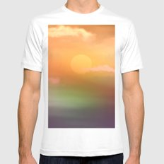 Sunrise  and sky. Mens Fitted Tee MEDIUM White