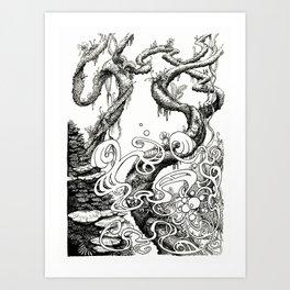 Epiphycadia III: Bracket Fungi Art Print