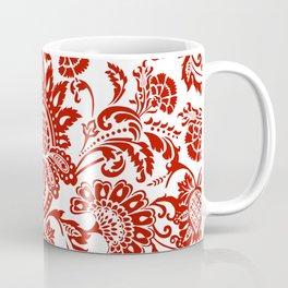 Damask in red Coffee Mug