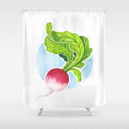Radish Shower Curtain