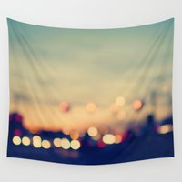 city Wall Tapestries featuring We're only young once by Laura Ruth