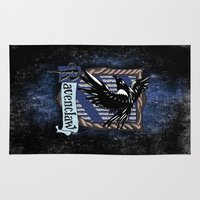 ravenclaw Area & Throw Rugs featuring Ravenclaw team flag emblem iPhone 4 4s 5 5c, ipod, ipad, pillow case, tshirt and mugs by Three Second