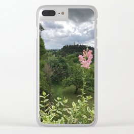Snap Dragon on a Hill Clear iPhone Case