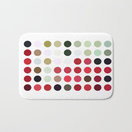 Mixed Color Poinsettias 2 Dots Bath Mat