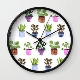 Houseplants 2.0 Wall Clock