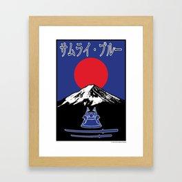 Japan サムライ・ブルー (Samurai Blue) ~Group H~ Framed Art Print