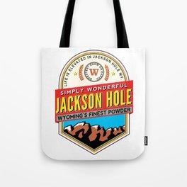 Skiing Jackson Hole Wyoming Tote Bag