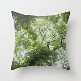 Up in the Trees Above Throw Pillow