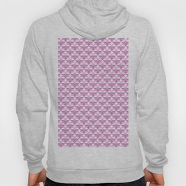Geometrical pink lilac white abstract pattern Hoody