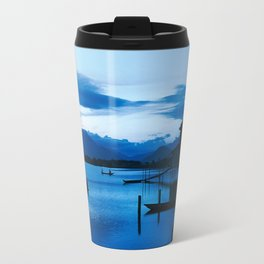 BLUE VIETNAMESE MEDITATION Travel Mug