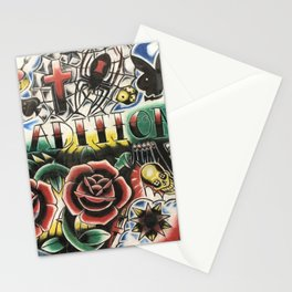 Traditional tattoo collage Stationery Cards
