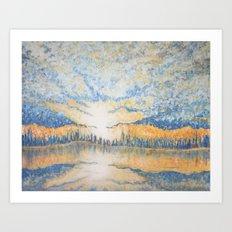 Under a Cloud - Original Impressionistic Painting Art Print