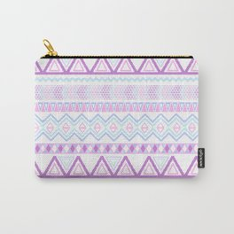 Bright Aztec Andes Pattern Pink Teal Geometrical Carry-All Pouch