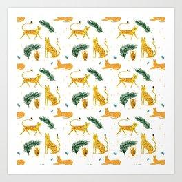 Big Cat Party x Rah Rah Art Print