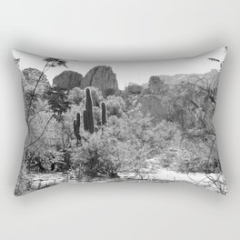 Boyce Thompson Arboretum Black and White No.1 Rectangular Pillow