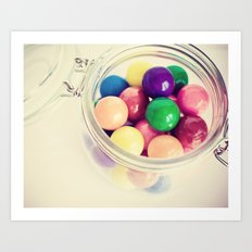 Bubble Gum Delight Art Print