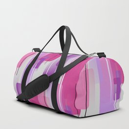 Shapes and Lines Abstract - Purple, Pink, Gray Duffle Bag