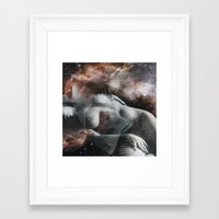 milky way Framed Art Prints featuring Milky Way by Liaison Érotique