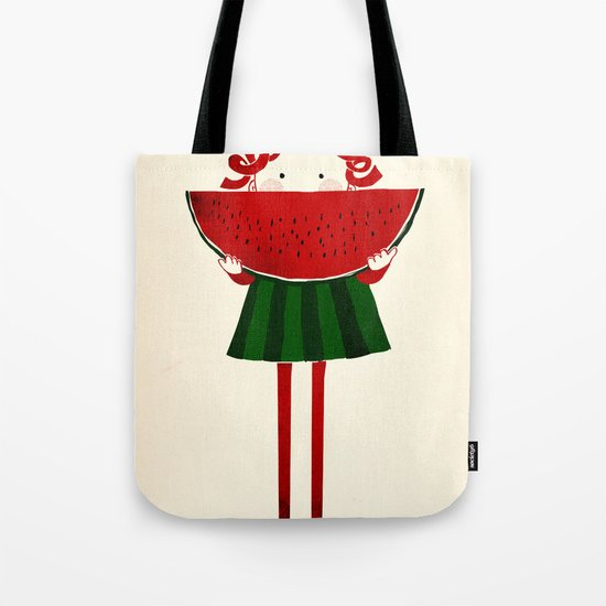 Melone girl Tote Bag