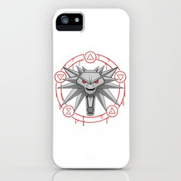 Witcher White Wolf Signs Medallion iPhone Case