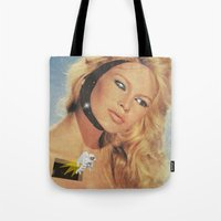 spaceman Tote Bags featuring Spaceman by Greta Bungle