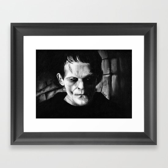 THE MONSTER of FRANKENSTEIN - Boris Karloff Framed Art Print