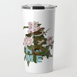 Digital Collage That Reminds Us Of Home Back In The Nest Travel Mug