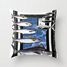 Angler Fishing Design Throw Pillow