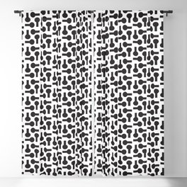 black lab bottle pattern Blackout Curtain