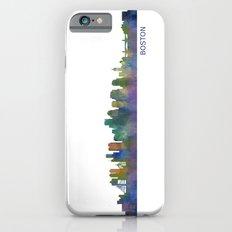 Boston Massachusetts City Skyline Hq V1 Slim Case iPhone 6