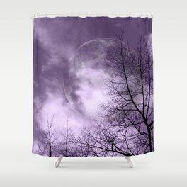 Purple Night  - JUSTART © Shower Curtain