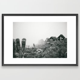 Kilimanjaro Huts IV Framed Art Print