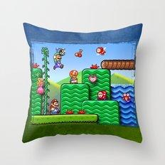 Super Mario 2 Throw Pillow